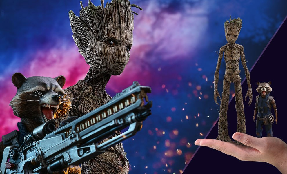 Gallery Feature Image of Groot and Rocket Sixth Scale Figure - Click to open image gallery