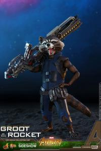 Gallery Image of Groot and Rocket Sixth Scale Figure