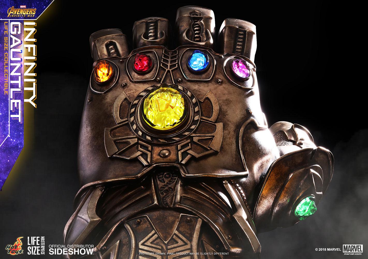 marvel infinity gauntlet prop replicahot toys   sideshow