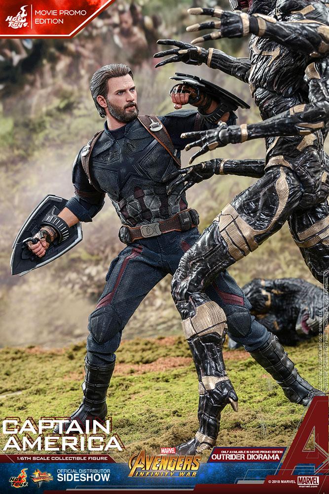 Marvel Captain America Movie Promo Edition Sixth Scale Figur Sideshow