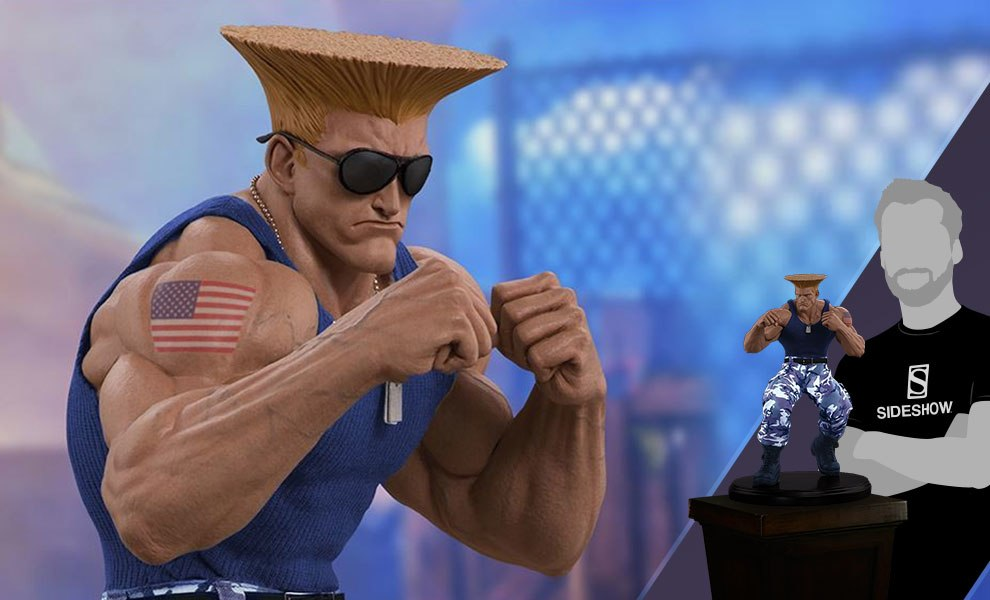 Gallery Feature Image of Guile Player 2 Statue - Click to open image gallery