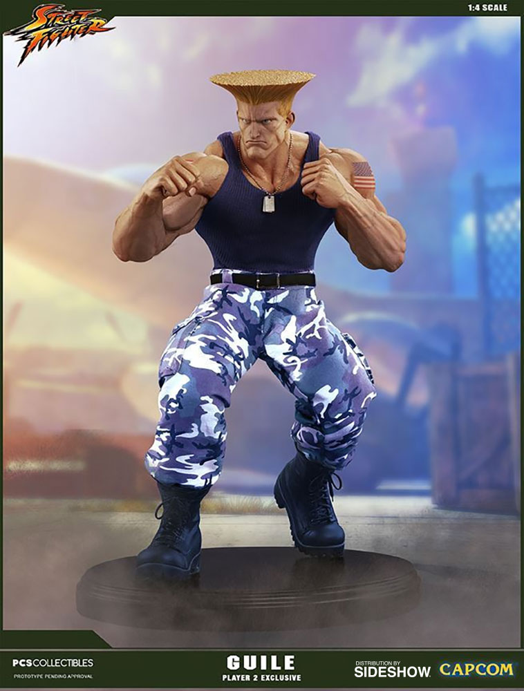 Street Fighter Guile Player 2 Statue By Pop Culture Shock