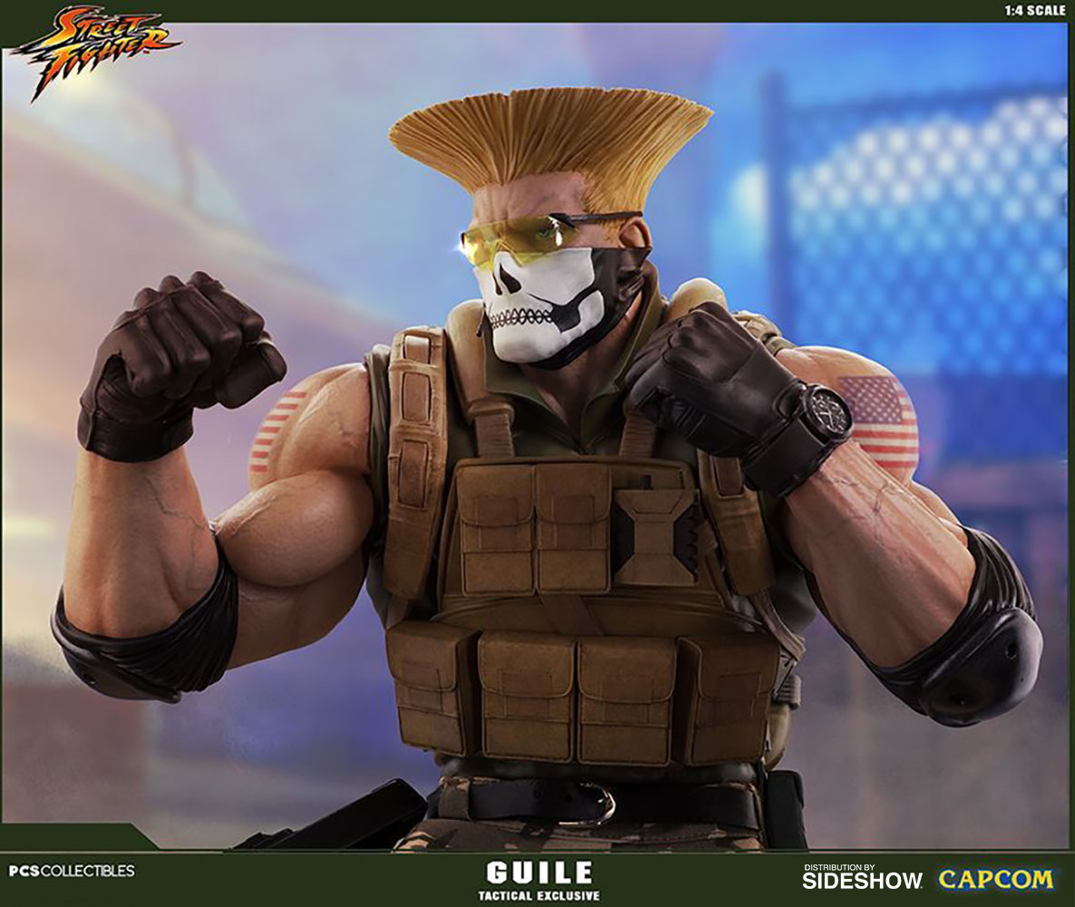 Street Fighter Guile Tactical Statue By Pop Culture Shock