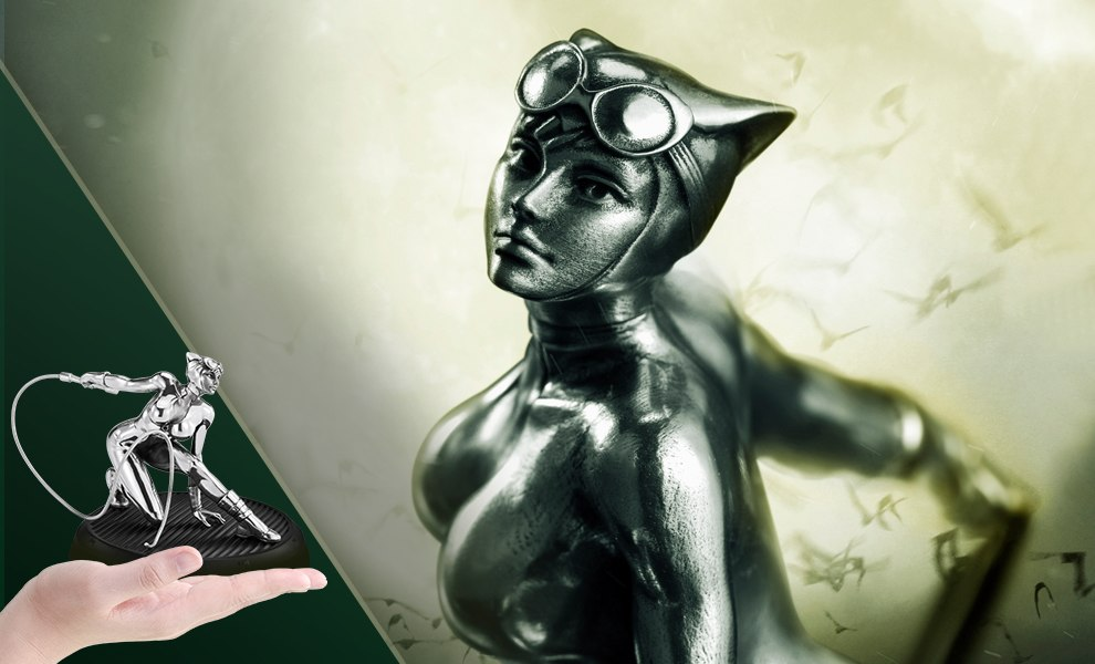 Gallery Feature Image of Catwoman Figurine Pewter Collectible - Click to open image gallery