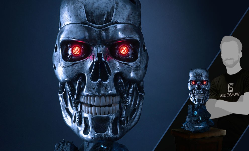 Gallery Feature Image of T-800 Endoskeleton Life-Size Bust - Click to open image gallery