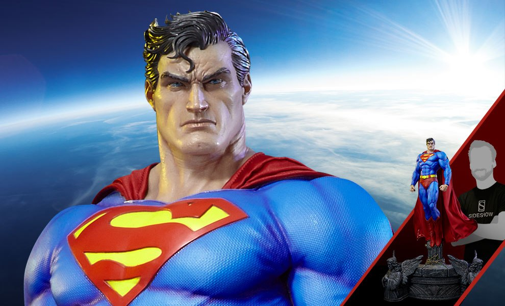 Gallery Feature Image of Superman Fabric Cape Edition Statue - Click to open image gallery