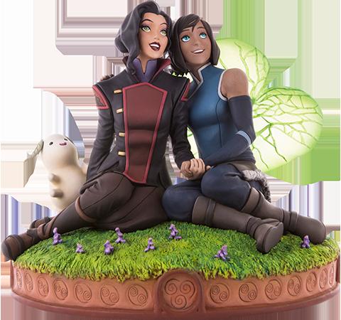 Mondo Korra and Asami in the Spirit World Statue