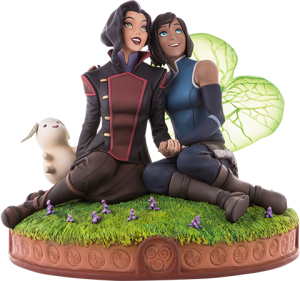 Korra and Asami in the Spirit World Statue