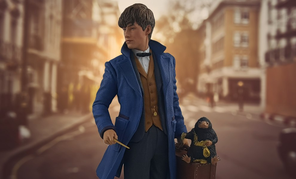 Gallery Feature Image of Newt Scamander with Niffler Statue - Click to open image gallery