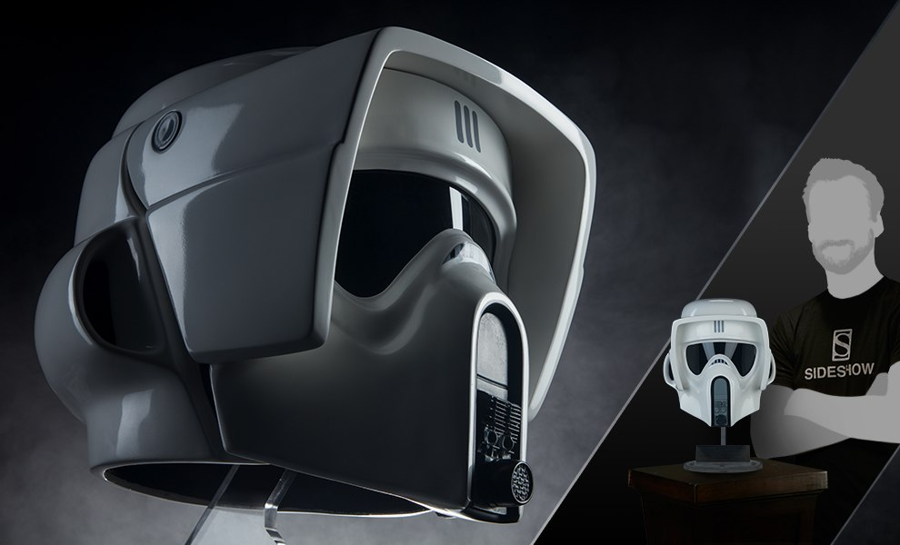 Gallery Feature Image of Scout Trooper Helmet Life-Size Helmet - Click to open image gallery