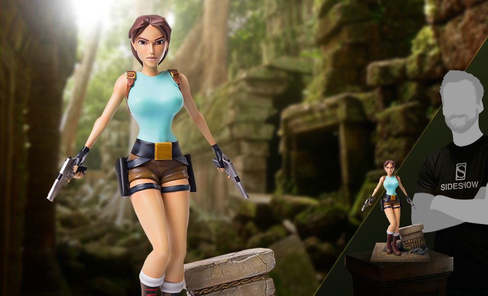 Tomb Raider Lara Croft Statue By Gaming Heads Sideshow Collectibles