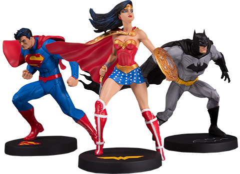 DC Direct Jim Lee Collector 3-Pack Statue