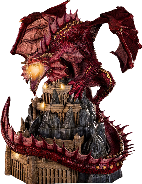 PCS Collectibles Klauth Red Dragon Fire Statue