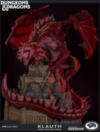 Gallery Image of Klauth Red Dragon Opened Wing Statue