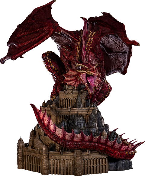 PCS Collectibles Klauth Red Dragon Opened Wing Statue