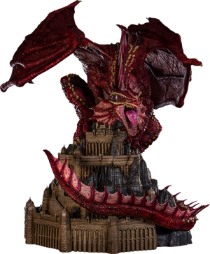 Klauth Red Dragon Opened Wing Statue