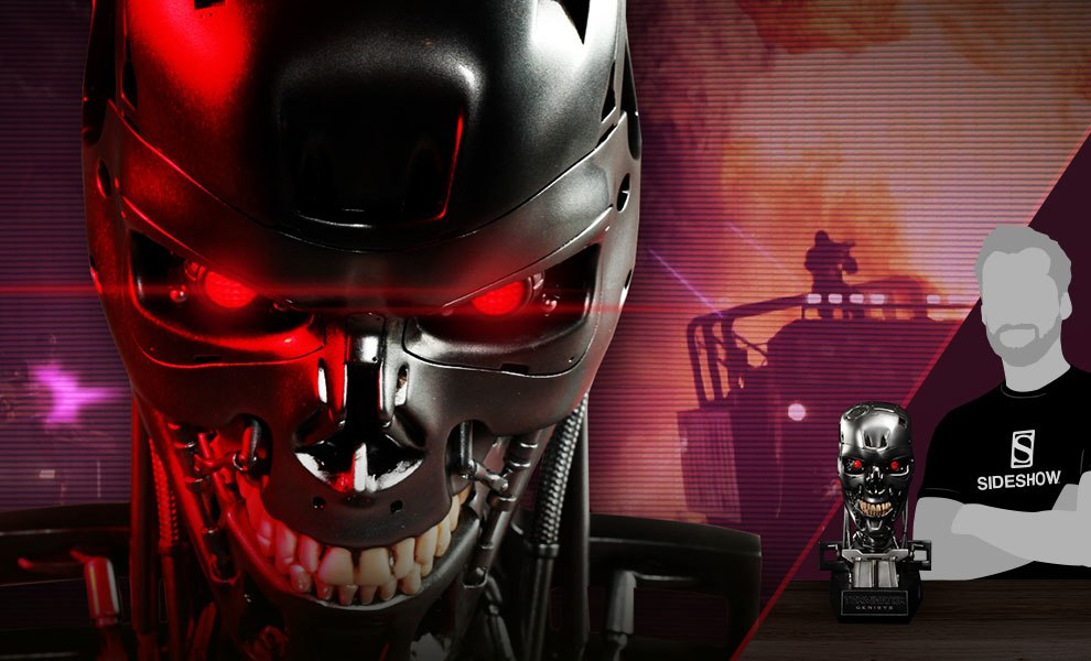 Gallery Feature Image of Endoskeleton Skull Prop Replica - Click to open image gallery