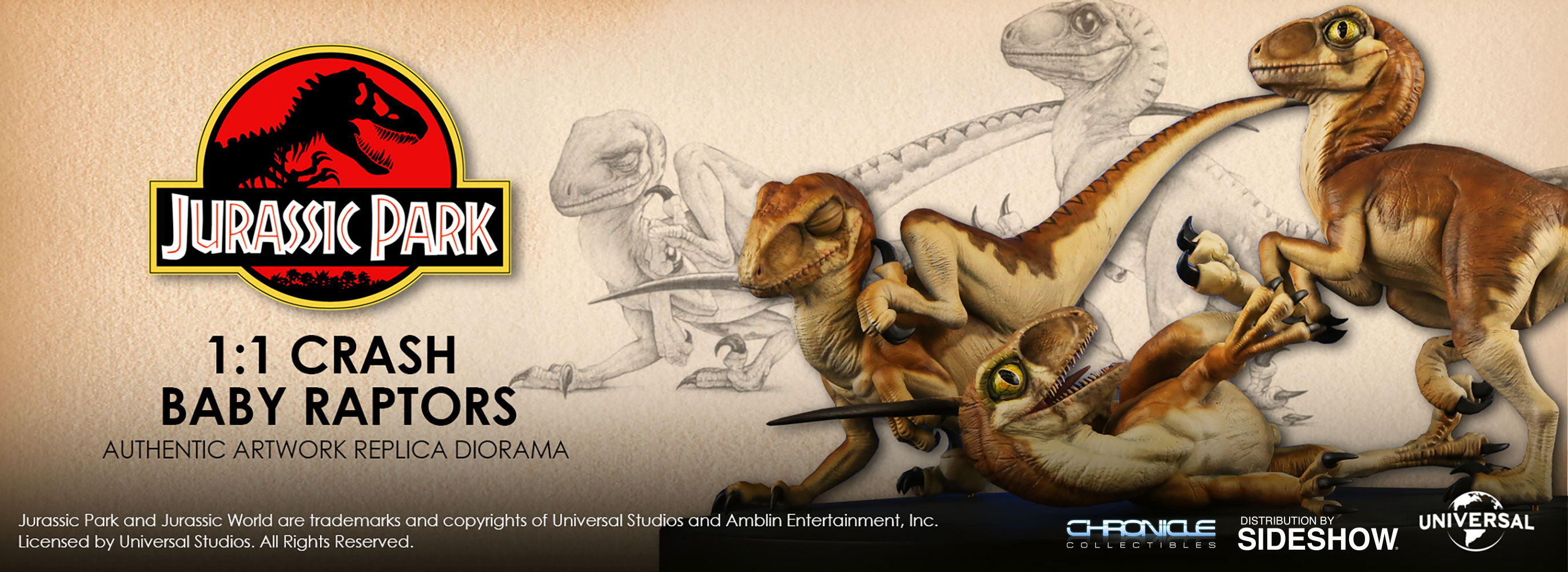 Jurassic Park Crash McCreery's Baby Raptors