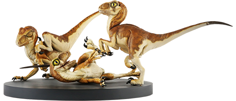 Chronicle Collectibles Crash McCreerys Baby Raptors Diorama