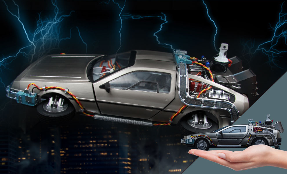 Gallery Feature Image of DeLorean Time Machine Collectible Figure - Click to open image gallery