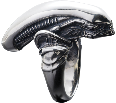 TORCH TORCH Alien Big Chap Silver Ring Jewelry