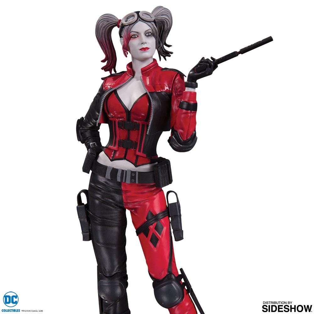 Wei/ß Rot dc comics OCT160338 Harley Quinn Skulptur Injustice 2 Schwarz