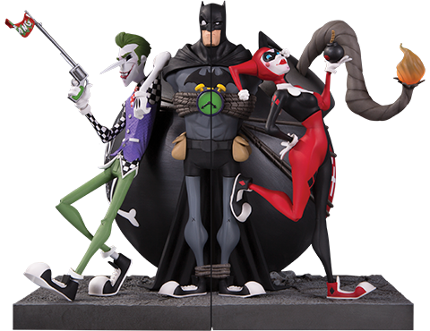 DC Collectibles The Joker and Harley Quinn Bookends Office Supplies