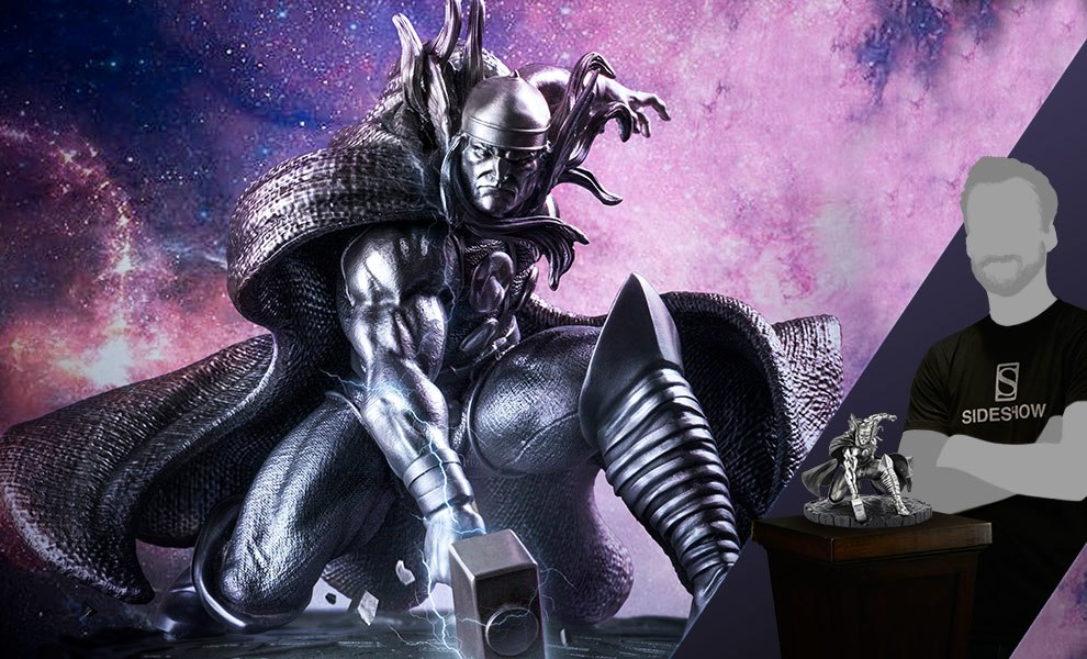Gallery Feature Image of Thor Figurine Pewter Collectible - Click to open image gallery