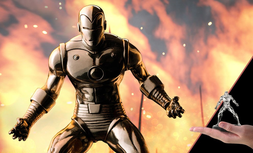 Gallery Feature Image of Iron Man Figurine Pewter Collectible - Click to open image gallery