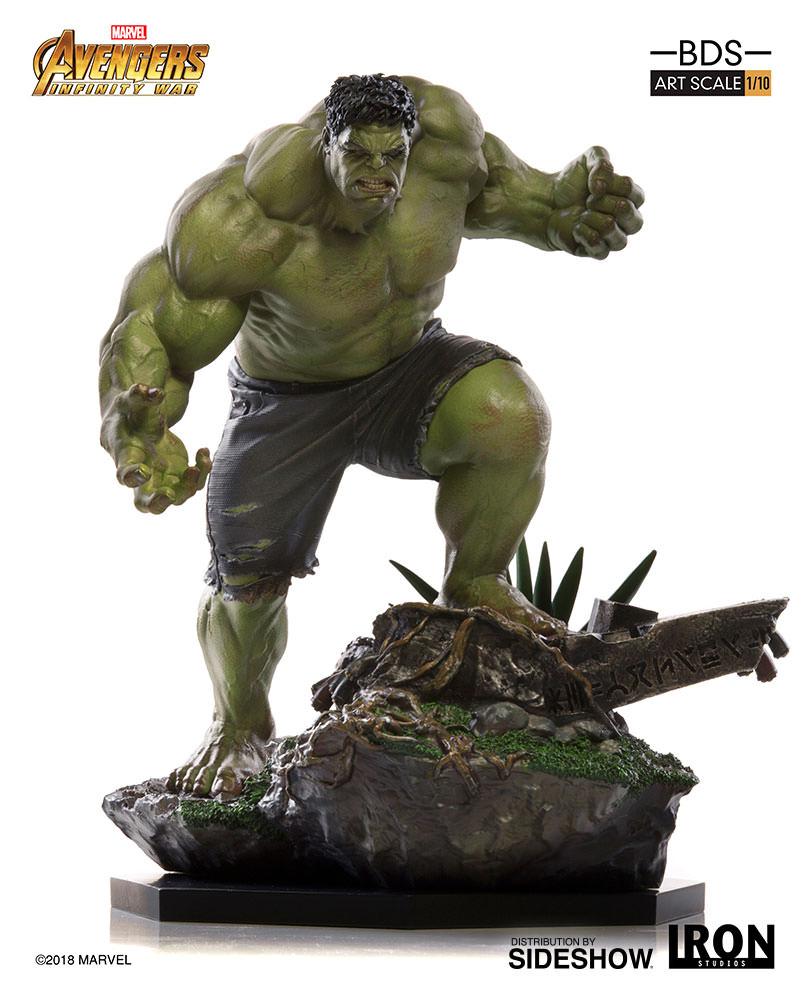 marvel hulk statueiron studios   sideshow