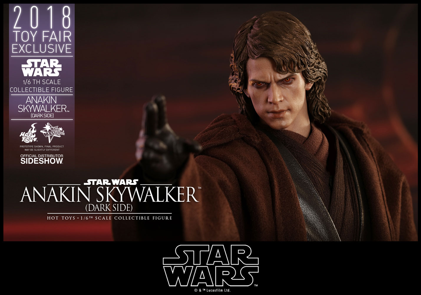 Star Wars Anakin Skywalker Dark Side Sixth Scale Figure By H Sideshow