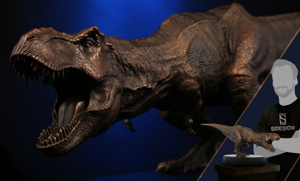 Gallery Feature Image of Bronze T-Rex Statue - Click to open image gallery