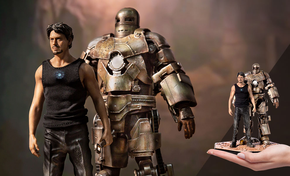Gallery Feature Image of Iron Man Mark I and Tony Stark 1:10 Scale Statue - Click to open image gallery