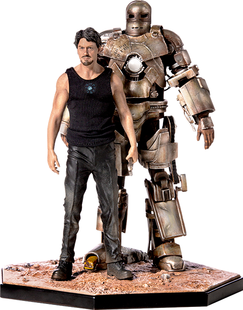 Iron Studios Iron Man Mark I and Tony Stark Statue