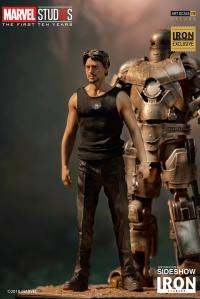 Gallery Image of Iron Man Mark I and Tony Stark Statue