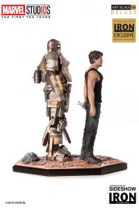 Gallery Image of Iron Man Mark I and Tony Stark 1:10 Scale Statue