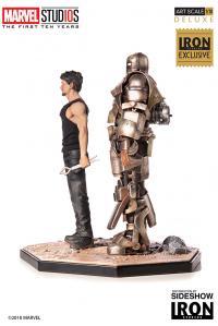 Gallery Image of Iron Man Mark I and Tony Stark Statue