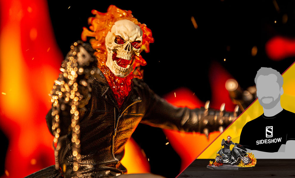 Gallery Feature Image of Ghost Rider Statue - Click to open image gallery
