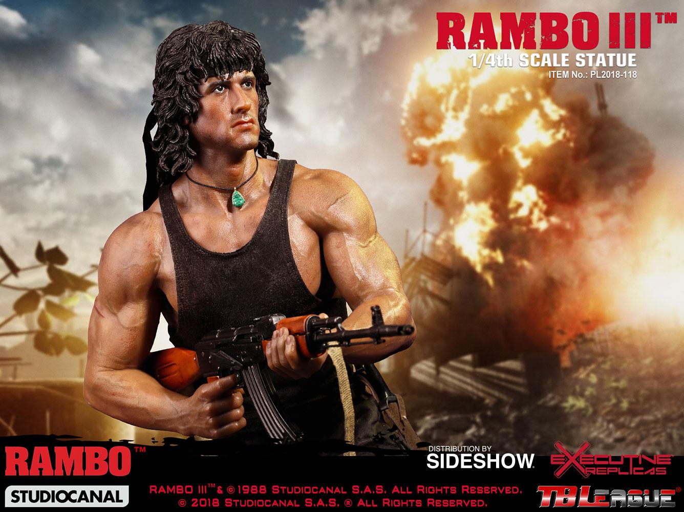 Rambo Rambo III Statue by Phicen