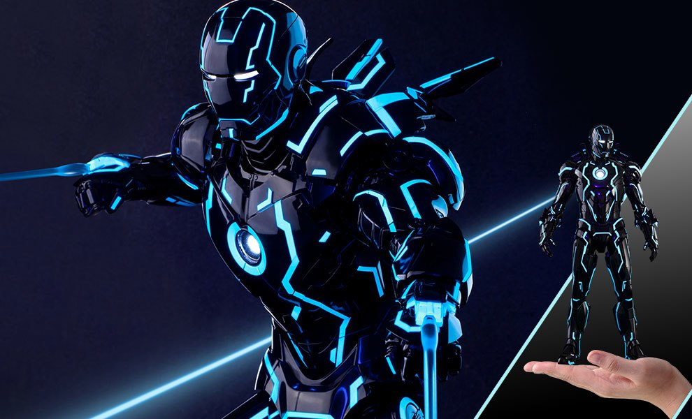 Gallery Feature Image of Neon Tech Iron Man Mark IV Sixth Scale Figure - Click to open image gallery