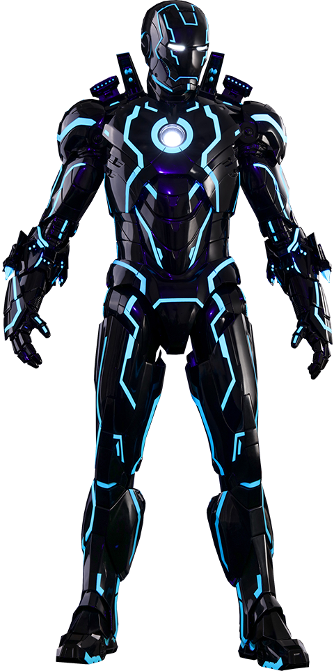 Hot Toys Neon Tech Iron Man Mark IV Sixth Scale Figure
