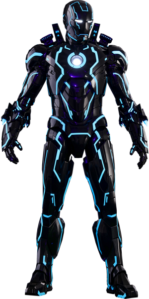Neon Tech Iron Man Mark IV Sixth Scale Figure