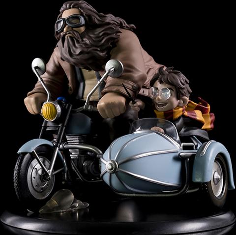 Quantum Mechanix Harry Potter and Rubeus Hagrid Q-Fig Max Diorama