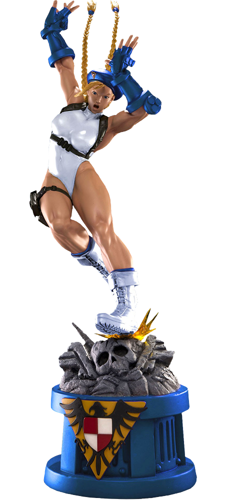 Pop Culture Shock Cammy Player 2 White Statue