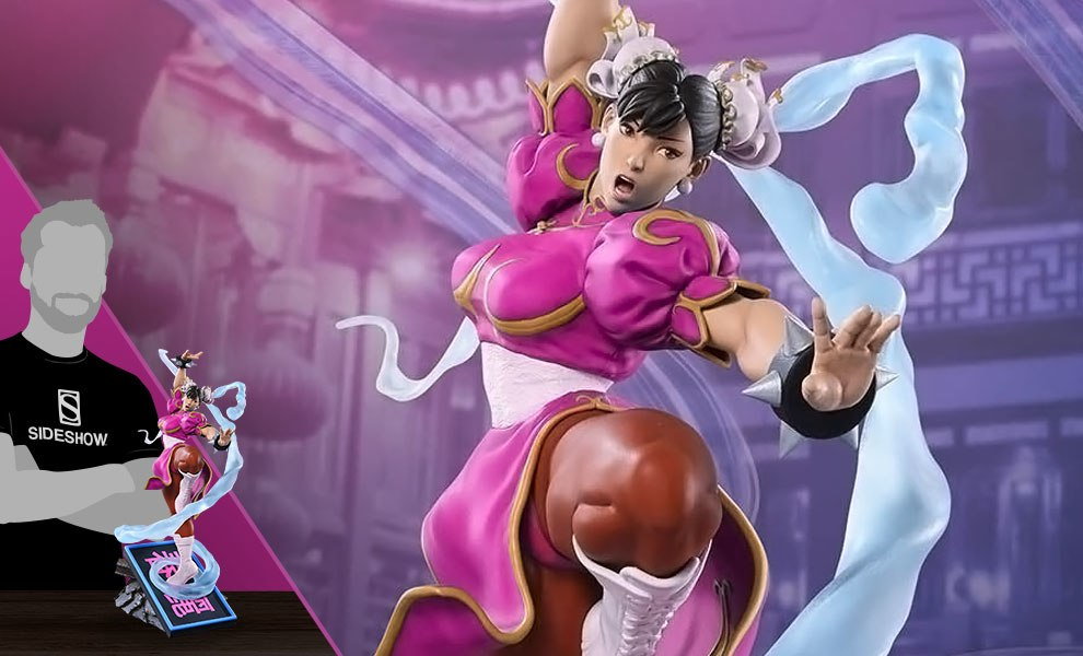 Gallery Feature Image of Chun-Li V-Trigger Player 2 Pink Statue - Click to open image gallery