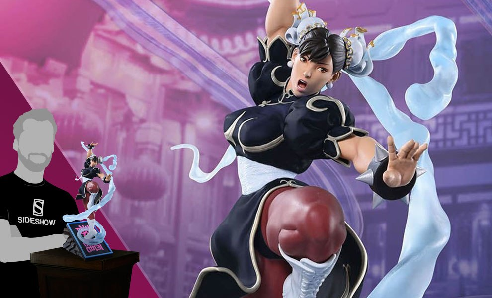 Gallery Feature Image of Chun-Li V-Trigger Player 2 Black Statue - Click to open image gallery