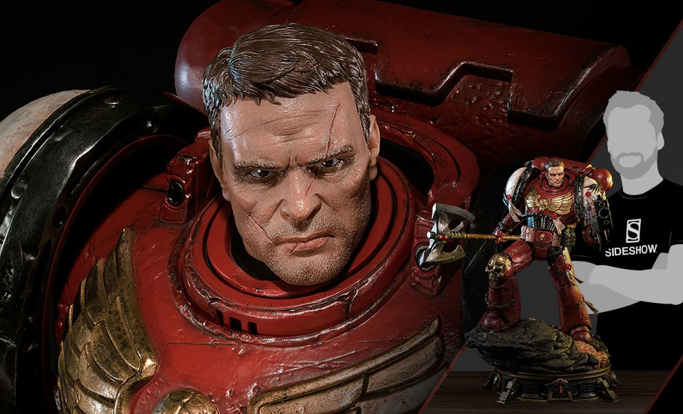 Gallery Feature Image of Space Marine Blood Ravens Deluxe Version Statue - Click to open image gallery
