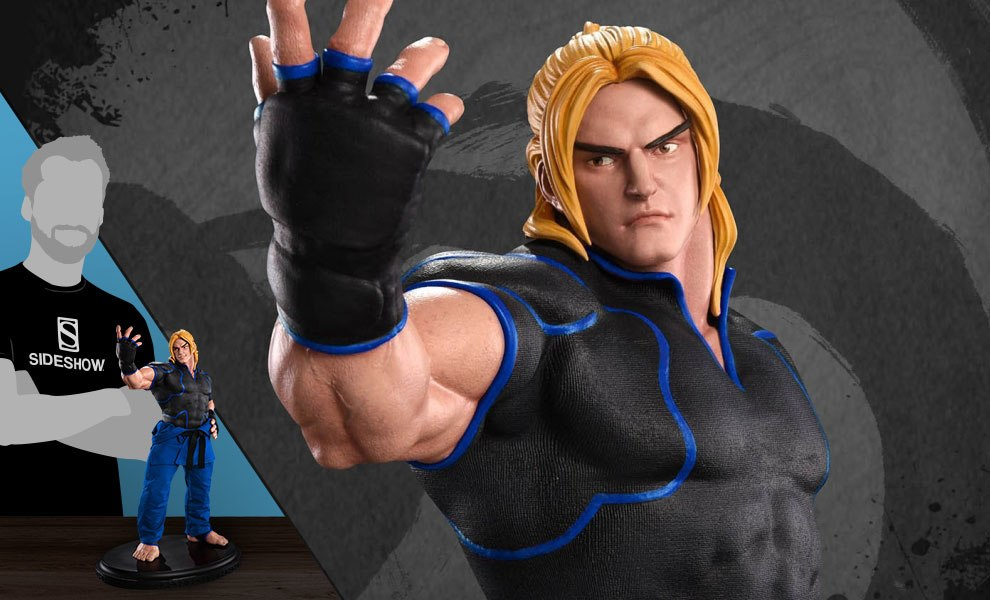 Gallery Feature Image of Ken Masters Player 2 Blue Statue - Click to open image gallery