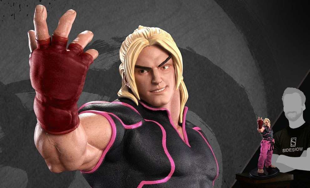 Gallery Feature Image of Ken Masters Player 2 Pink Statue - Click to open image gallery