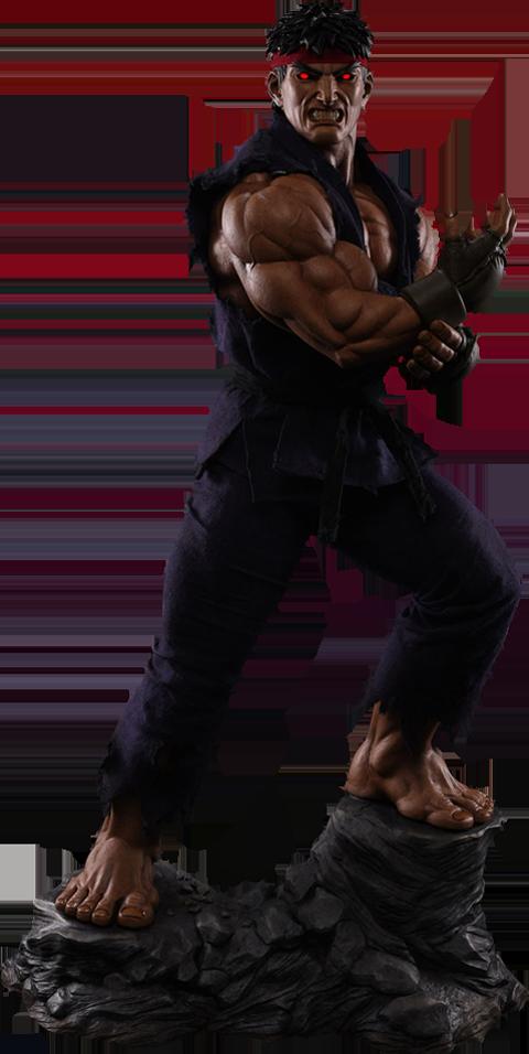 Pop Culture Shock Ryu Evil Ryu Statue